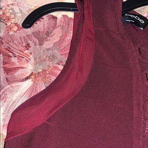 bebe Dresses - Beautiful marroon bandage dress